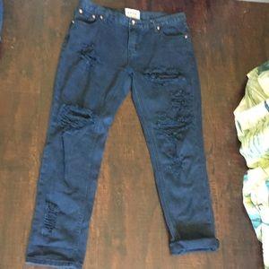 One teaspoon destroyed boyfriend black jeans 28